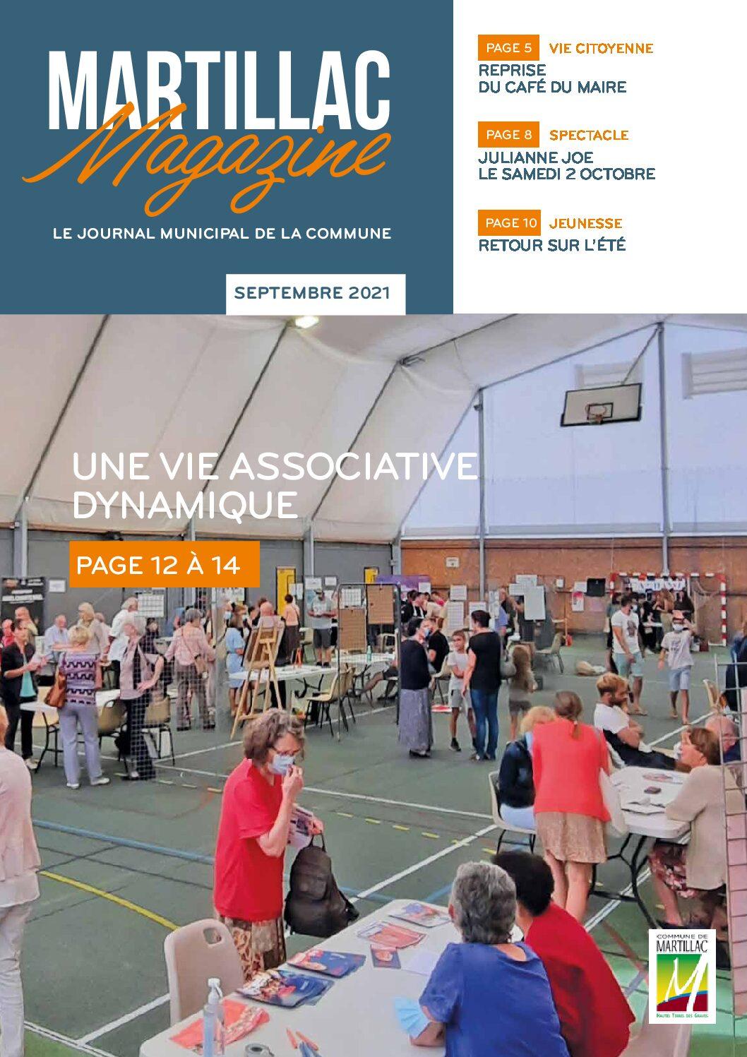 Le Martillac Magazine de septembre arrive dans vos boîtes aux letrres.